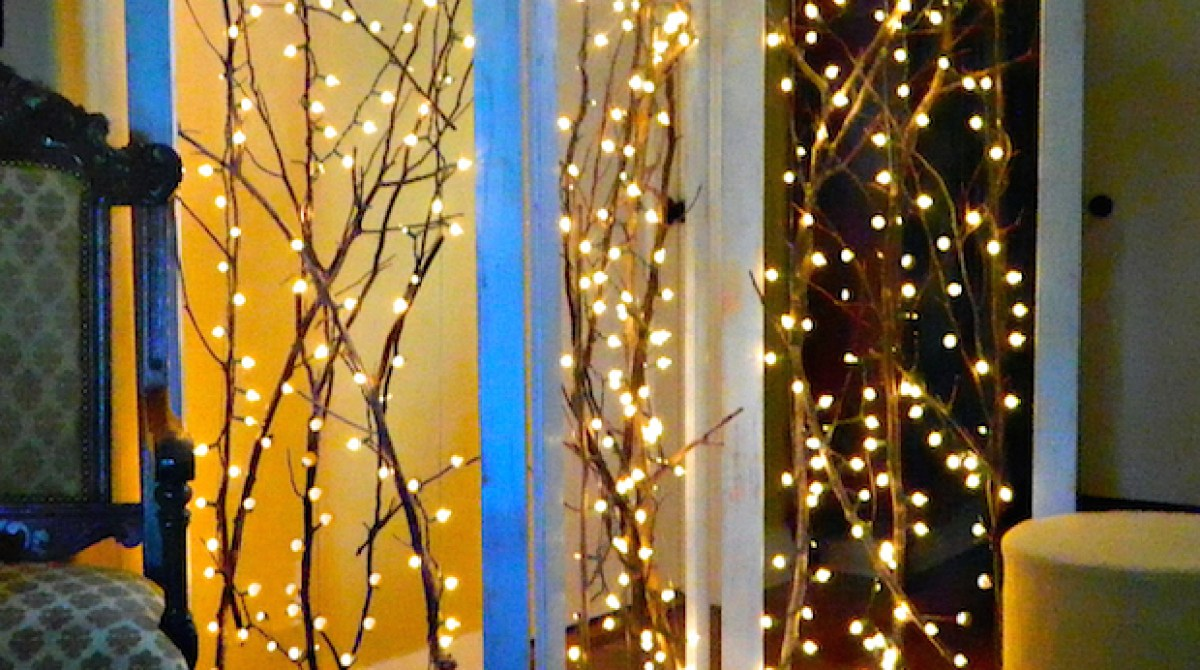 How-To: Twinkling Branches Room Divider