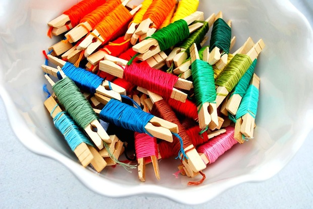 Craft Tip: Organizing Embroidery Floss