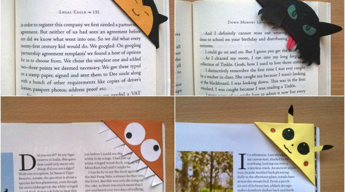 DIY Quick Corner Bookmarks