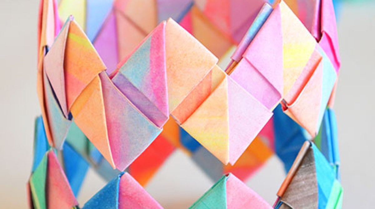 How-To: Folded Paper Bangle Bracelets