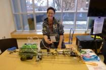 Alex Leitch with her Rainbow Gun 2.0