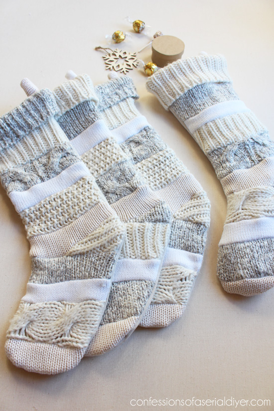 Anthropologie Inspired Sweater Stocking