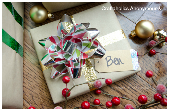 How-To: Washi Tape Gift Bow