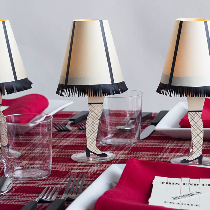 DIY A Christmas Story Wine Glass Lamps