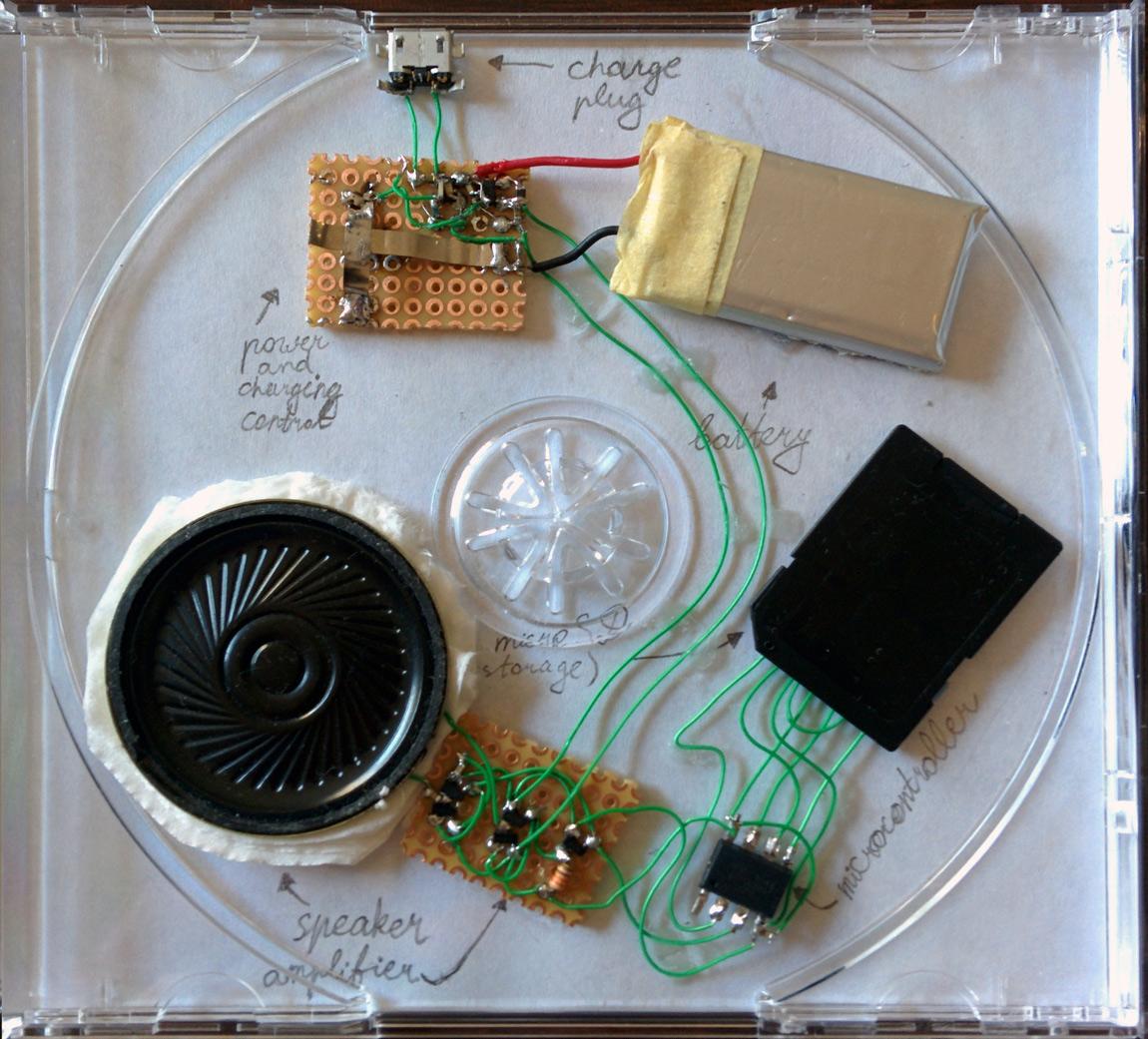 CD Case Audio Player