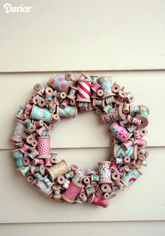 How-To: Wooden Thread Spool Wreath