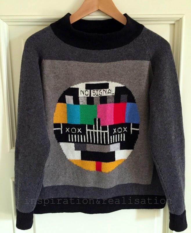"DIY Intarsia Knit ""No Signal"" Sweater"