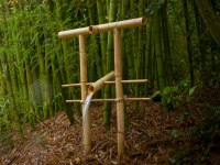 DIY Bamboo Fountain Scares Scavenging Critters