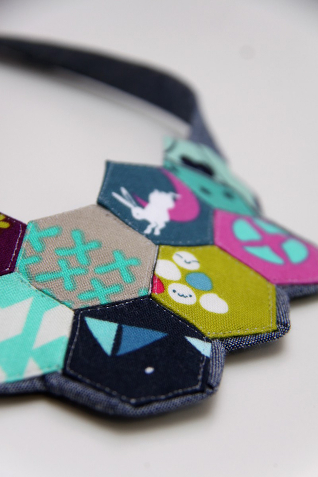 How-To: Paper Pieced Hexagon Necklace