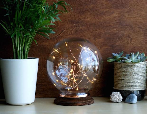 DIY Decor: Mid-Century Modern-Inspired Illuminated Copper Globe