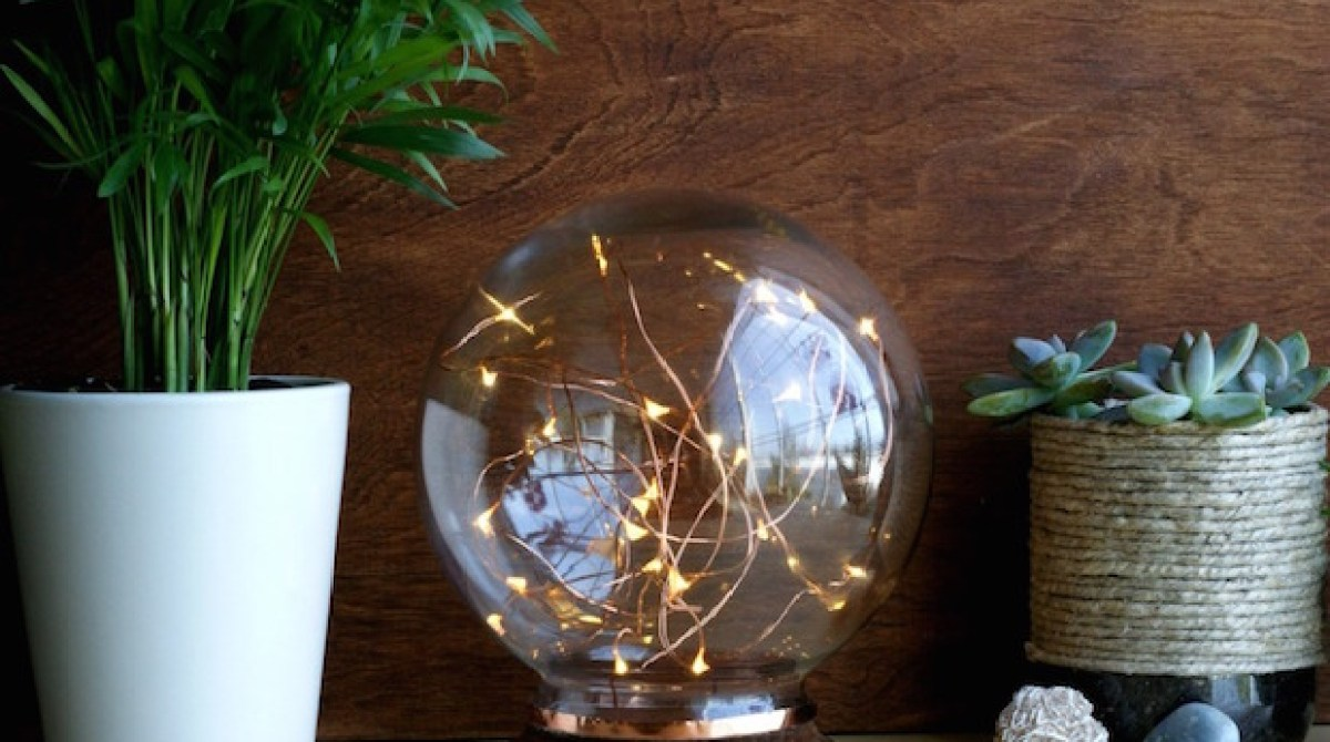 DIY Decor: Mid-Century Modern-Inspired Illuminated Copper Globe