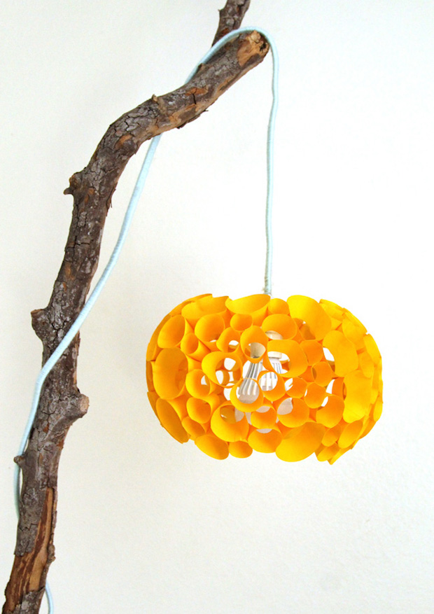 How-To: DIY Coral-Inspired Paper Lamp