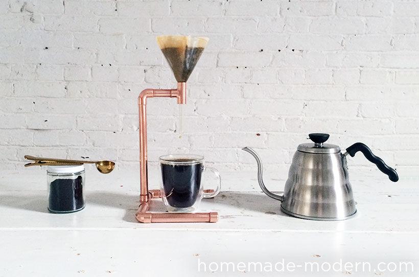 DIY Copper Pipe Coffee Maker