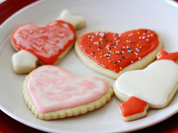 Flashback: Valentine's Day Vanilla Cut-Out Cookies
