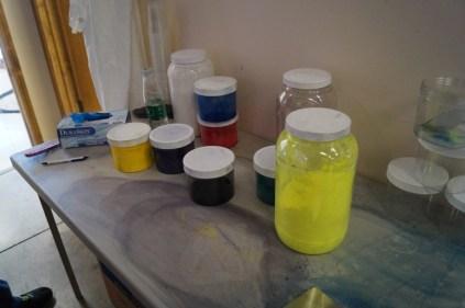 pigment measuring station