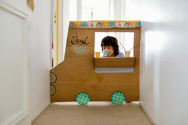 Cardboard Chuckwagon: DIY Food Truck For Kids