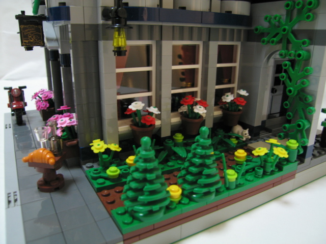 Ridiculously Detailed European Cafe in Lego