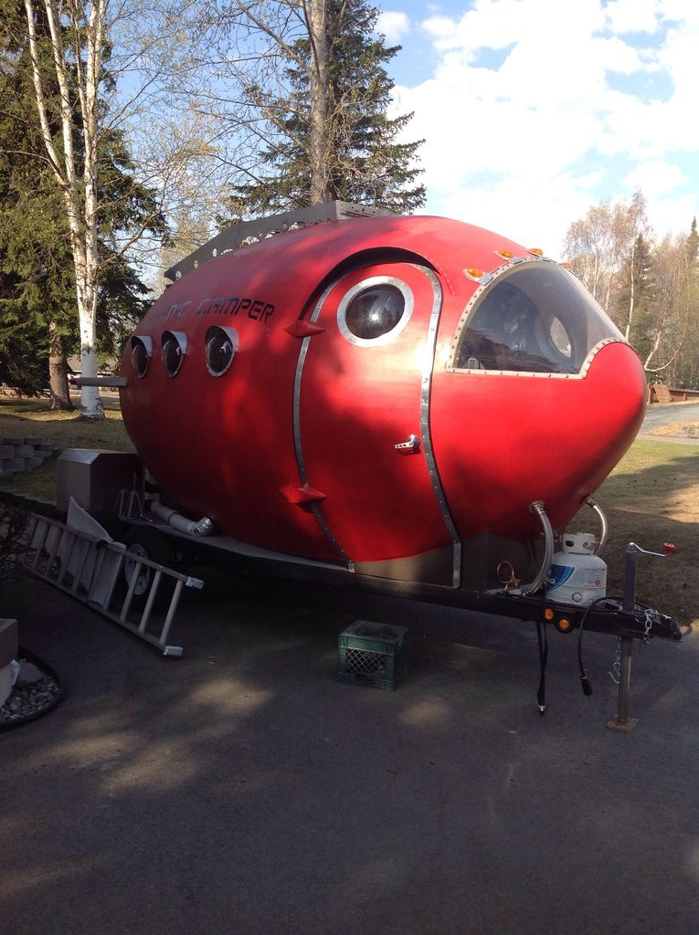 Blast Off with this Homemade Atomic Age Rocket Camper  Make