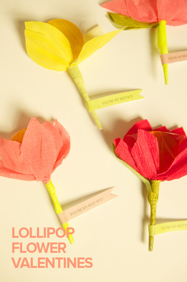 How-To: Lollipop Flower Valentines