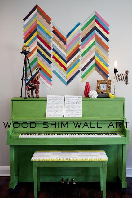 How-To: Wooden Shim Chevron Wall Art