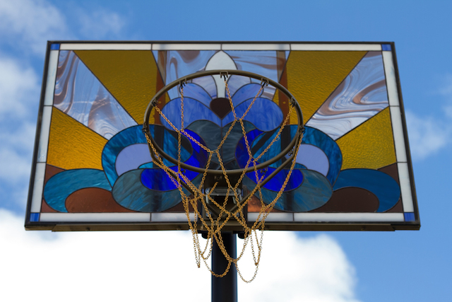 Elaborate Stained Glass Backboards Would Be Terrible for Basketball