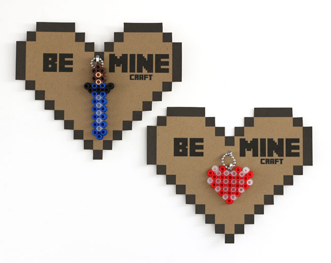 photo regarding Minecraft Valentine Box Printable identified as Minecraft Perler Bead Valentines Crank out: