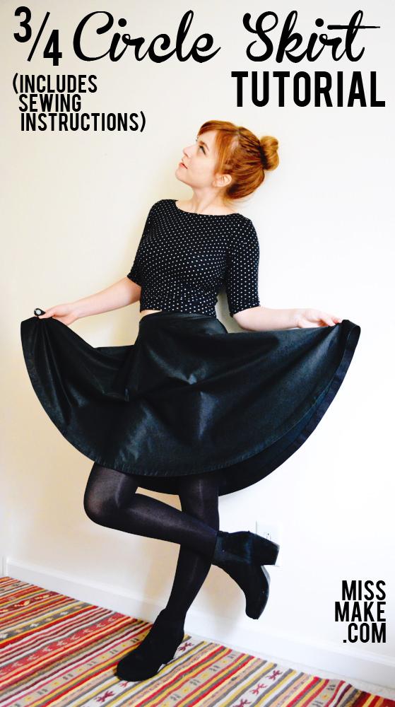 Wardrobe Basics: Sew a 3/4 Circle Skirt