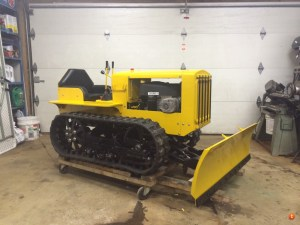 Dad Builds Mini Bulldozer From Lawnmower Parts Make