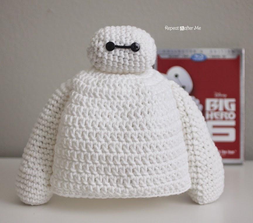 Crochet this Adorable Big Hero 6 Baymax Hat