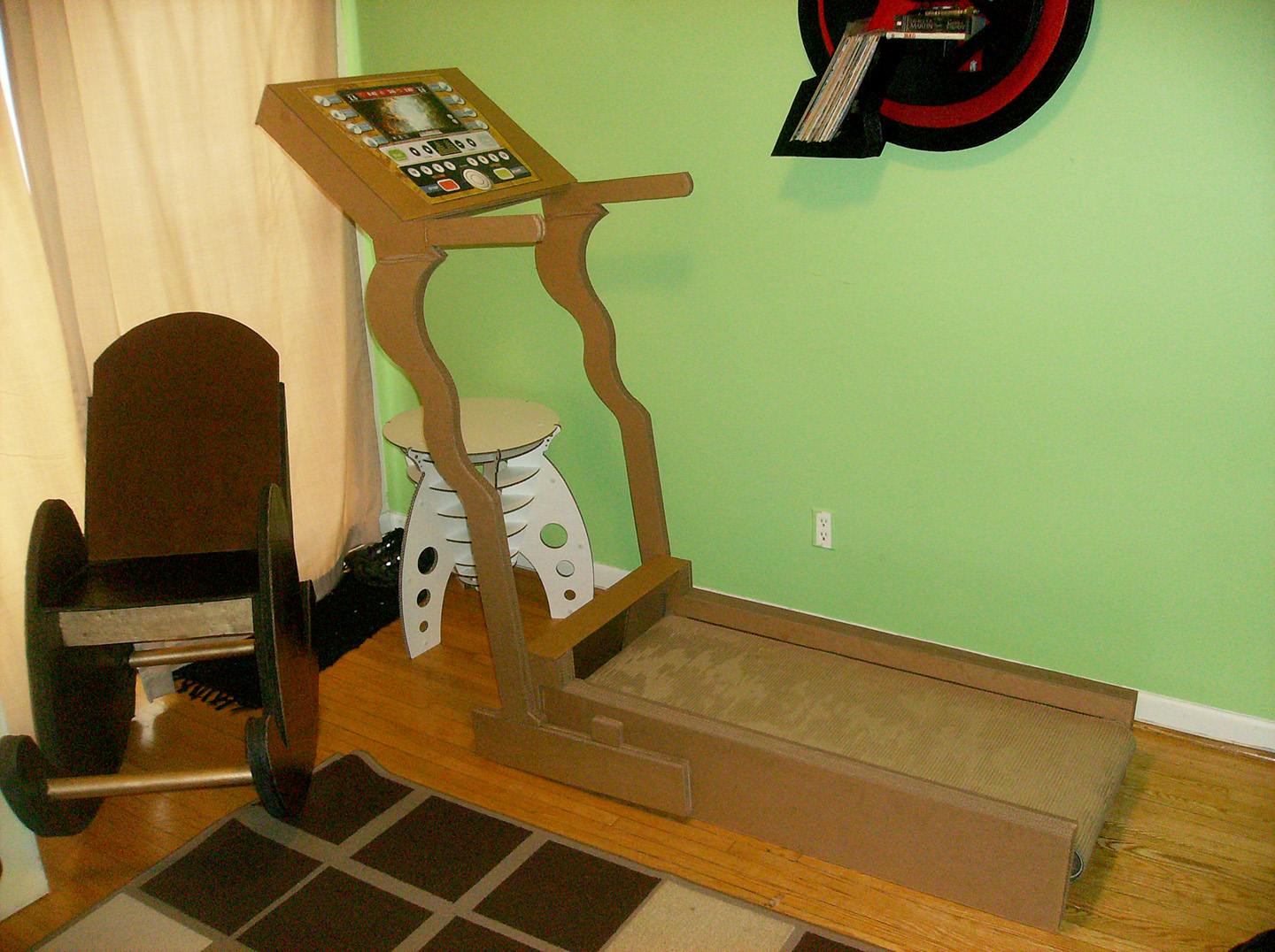 Cardboard rocking chair - The Final Assembled Design Of The Treadmill Beside Cardboard Rocking Chair