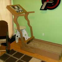 The final assembled design of the treadmill