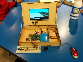 Piper Learning Electronics with Raspberry Pi and Minecraft Piper, developed by Mark Pavlyukovskyy, Alex Stokes, and Shree Bose, uses a modified version of Minecraft running on Raspberry Pi to walk players through creating circuits and interacting with them.