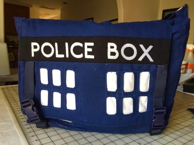 Homemade TARDIS Messenger Bag