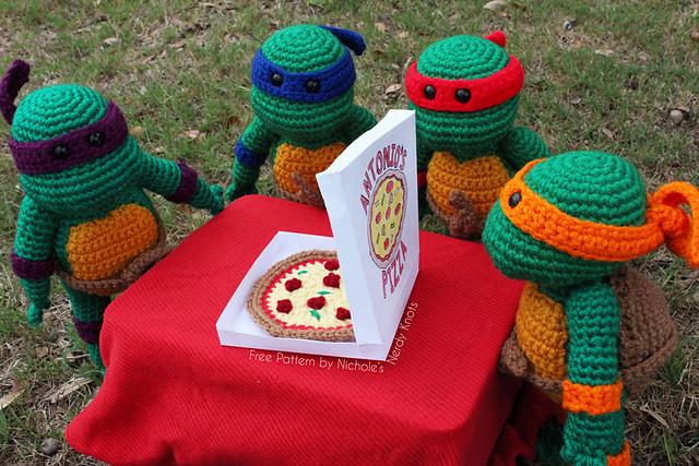 Cowabunga! Crochet These Teenage Mutant Ninja Turtles