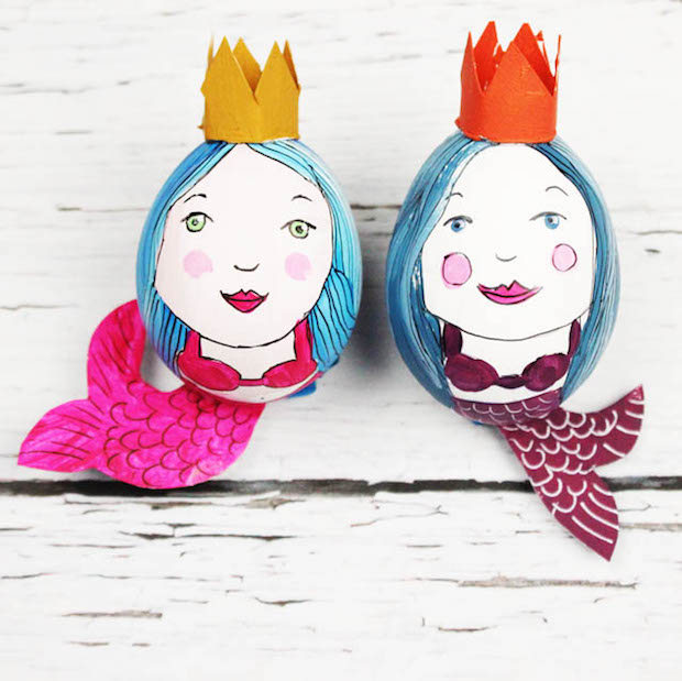 How-To: Mermaid Easter Eggs