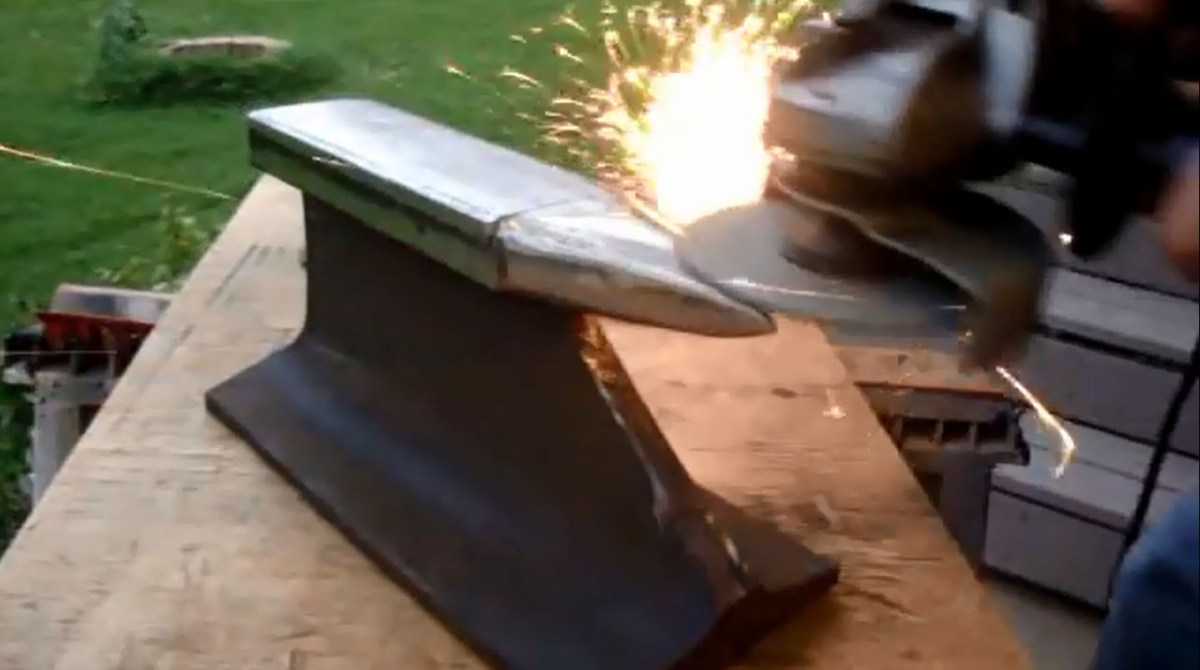 How To Make An Anvil From Old Railroad Track Make