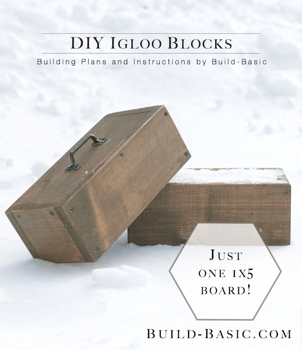 Build The Best Snow Fort On The Block With This DIY Snow Brick Mold