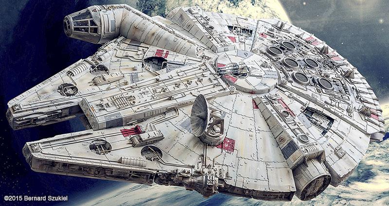 "Illuminated 38"" Paper Millennium Falcon Took 4 Years to Build"