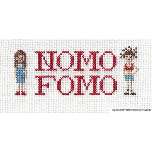 Broad City NOMO FOMO Cross-Stitch Sampler
