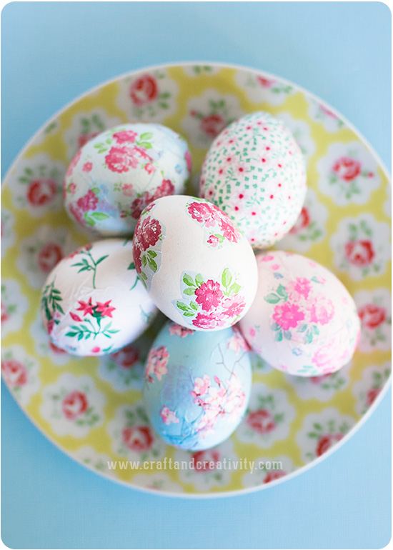 How-To: Pretty Decoupage Easter Eggs