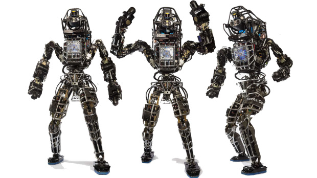The original Atlas is based on Boston Dynamics' PETMAN robot, which was designed to test chemical protection suits.