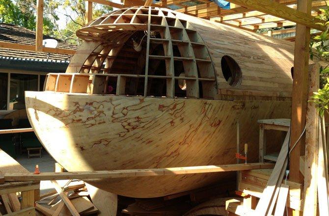 Backyard Builds: Man Constructing 22-Foot Tsunami-Proof Pod