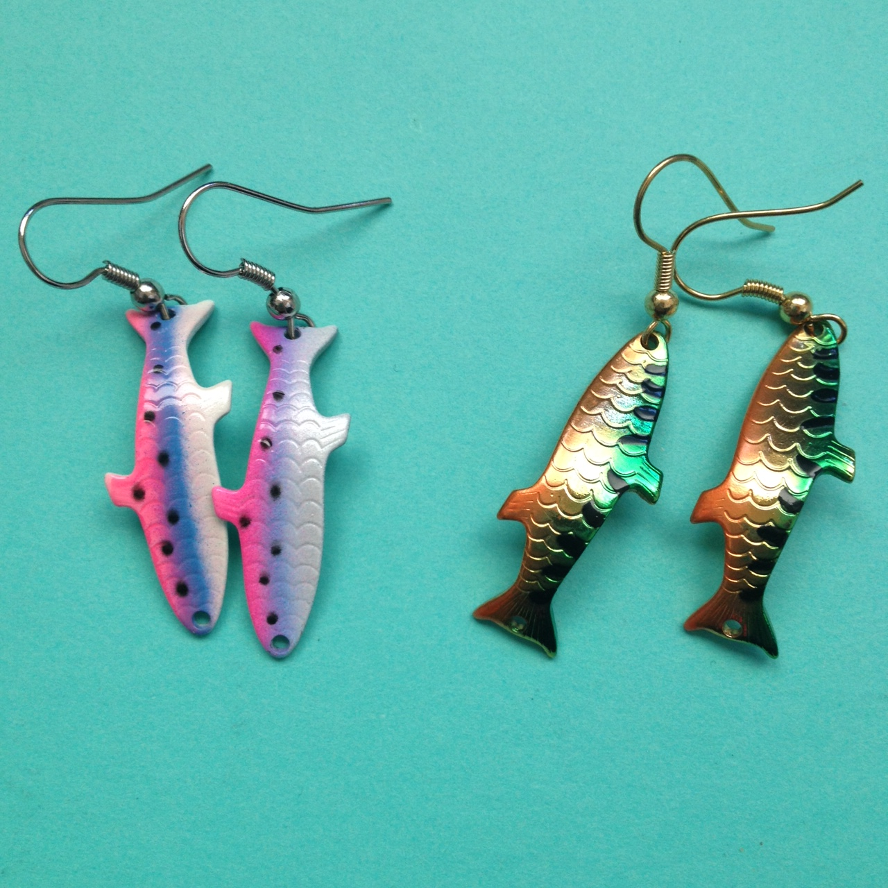 snag compliments with these diy fishing lure earrings make