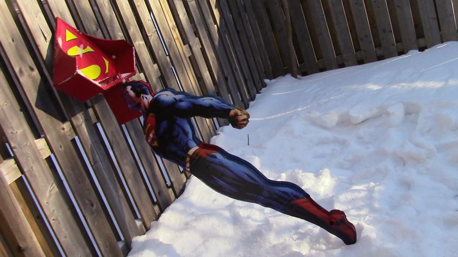 Extreme Cardboarding: The Superman Snow Shovel