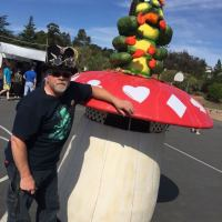Marty Kulmus and his Hooka Smoking Caterpillar – made for the Vallejo Mad Hatter parade