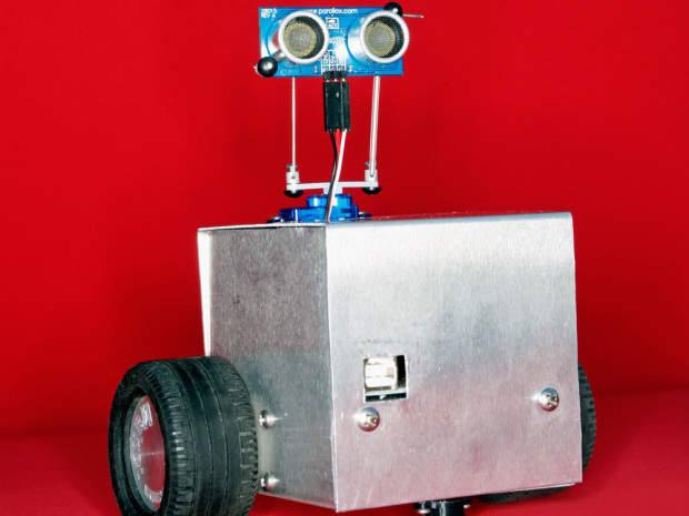 My Robot, Makey Make an autonomous robot that uses an Arduino programmed to follow objects around and avoid obstacles.