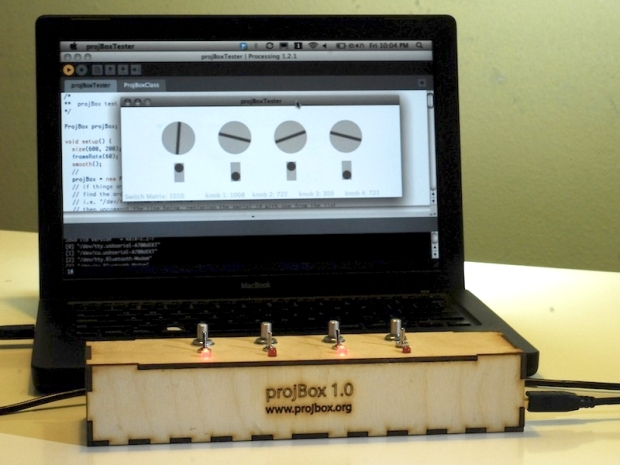 Build a projBox Controller Make a custom physical interface with an Arduino for controlling software written in Processing.