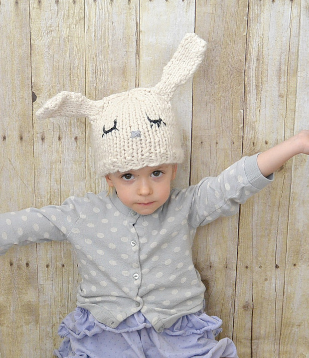 Kid Knits: Knit Toddler Bunny Hat