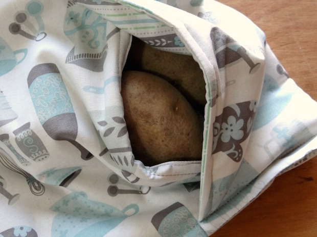 Dinner Hacks Sew a Baked Potato Microwave Bag Make