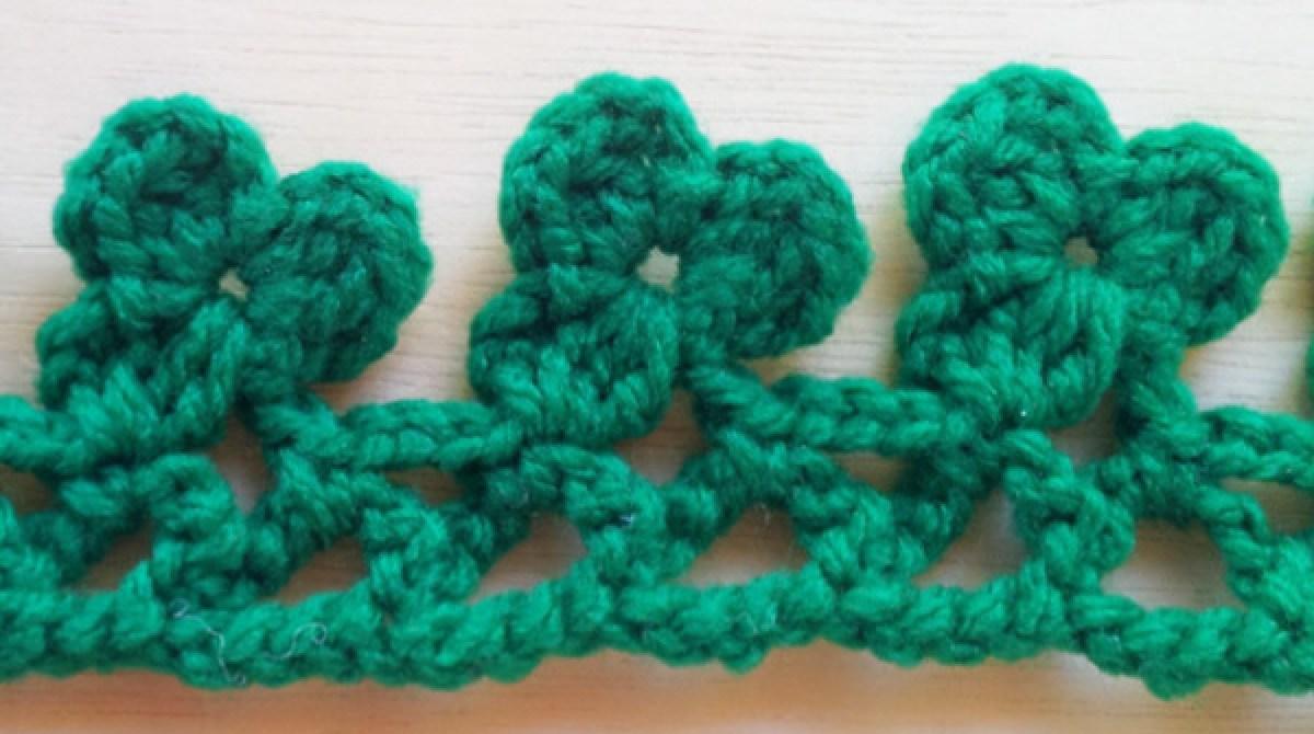 Shamrock Crochet Edging Make